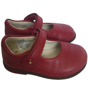 Clarks First Shoes Red Mary Jane Toddlers Size 4.5