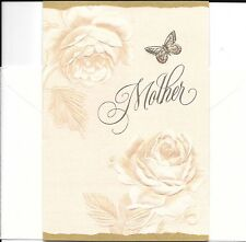 Happy Birthday Mother Golden Butterfly Hallmark Greeting Card Gift Card Holder