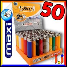 50 Accendini BIC MAXI J26 colorati pietrina grandi - Scatola intera box