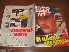 AUTOSPRINT 1988/1=COVER NIGEL MANSELL=PARIGI-DAKAR=MASERATI 430 TURISMO=