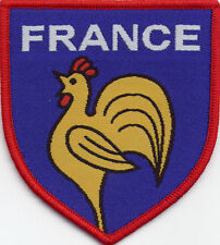 France Football Badge Patch 7.5 x 6.8cm