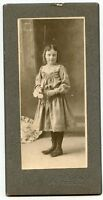 Antique Photo-Tidioute, Pennsylvania-Little Girl Holding Flowers, to Aunt Jennie