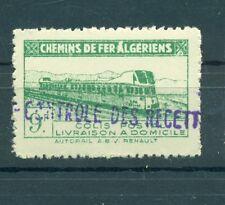 TRENI - TRAINS ALGERIA 1945 Pacchi Postali Railways Post Colis Postaux 9 F