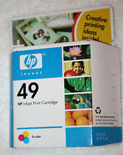 HP 49 Ink Cartridge OEM Genuine Tri Color New Sealed Expired 2007 51649A Inkjet