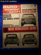AMS Auto Motor Sport 7/66 NSU Wankel Spider NSU Prinz 1000 DKW F 102