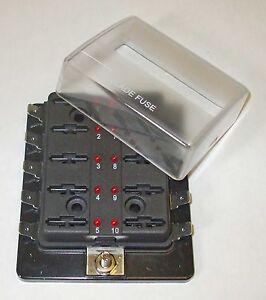 Blade fuseholder with LED indicator 10 way         FUBB10LED