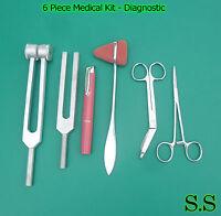6 Piece Medical Kit - Diagnostic EMT Nursing Surgical EMS Student Paramedic