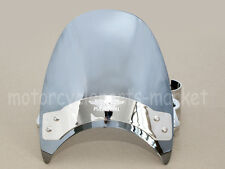 Chrome Windscreen Windshield For Harley Dyna Wide Super Low Glide XL883 1200