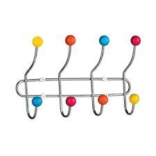 8 Gancho Puerta Colgador de Pared Ropa Chaqueta Abrigo Ganchos & Multi Bolas de Plástico Cromado