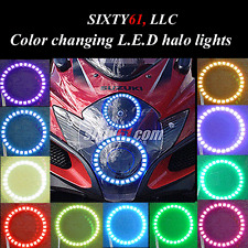 Suzuki GSXR 1000 2009-2016 Dual LED Color changing Angel Eyes halos ring lights