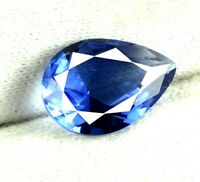 Pear Blue Tanzanite Loose Gemstone 3.90 Ct Transparent Natural Certified K2363