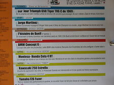 FASCICULE JOE BAR TEAM N°120 YAMAHA 600 FASER BMW CONCEPT 6 MONTESA HONDA COTA