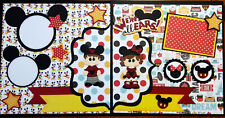 """Disney We're  All Ears 12"""" x 12""""  2 Pages Premade Scrapbook NOT DIGITAL"""