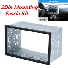 Metal 2Din Car Radio Frame Fascia Dash Panel for DVD Player Stereo Mount Trim