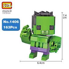 LOZ Marvel Hero Avengers Green Hulk Robot Mini Diamond Nano Building Blocks Toy