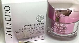 SHISEIDO WHITE LUCENT MULTI BRIGHT NIGHT CREAM PRO APPROACHx2 1.7 OZ SEALED NIB