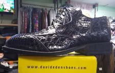 Mens Dress Shoe David Eden Crocodile Shoe Clayton Purple Size 9.5
