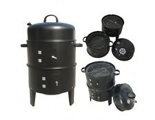 Steel Bbq Barbecue Stainless Grill Charcoal Smoker Garden Camping Cooking