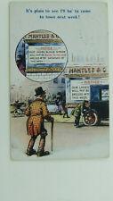 WW1 Risque Vintage Comic Postcard Great War Rationing Motor Car Window Dressing