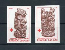 Francia nº 2231-2232u ** ungezähnt cruz roja 1980!!! (111762)