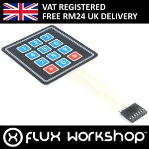 3pcs 3x4 Membrane Matrix Keypad 7 pin Pi Raspberry Uno Arduino Flux Workshop