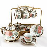 22pcs Royal Tea Set Household Ceramic Coffee Pot Cup&Saucer Sugar Bowl Milk Tank