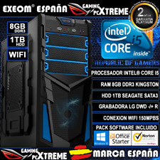 Ordenador Sobremesa Intel Core i5 8GB DDR3 1TB WIFI Windows 10 Gaming Pc