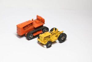 Lesney No 1 Cat DW20 Tractor Cab & Bigger Orange Cat Dozer - Joblot / Collection