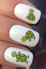 WATER NAIL TRANSFERS BABY CARTOON TURTLES TORTOISE PLAYING DECALS STICKERS *670