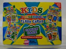 Preschool Reading Flash Cards 4 Pack Kids,123, Shapes, Colors & Abc Learn Games