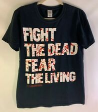 FIGHT THE DEAD FEAR THE LIVING T Shirt AMC The Walking Dead Size Medium Black