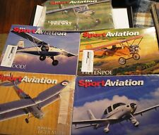 EAA SPORT AVIATION LOT January Through May 2008 Bright Clean Copies Airplanes