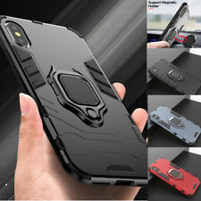 For iPhone XS Max XR XS X 8 7 Magnetic Ring Holder Hybrid Case Hard Armor Cover