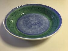 """CALECA LARGE SALAD OR PASTA SERVING BOWL - MADE IN ITALY ESPERO PATTERN - 14"""""""