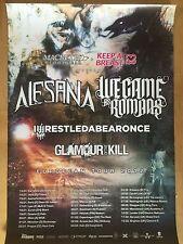 ALESANA – WE CAME AS ROMANS 2012   ++  orig.Concert Poster - Konzert Plakat  NEU