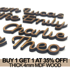 Personalised Thick 4mm Script Names MDF Letters Words Book Wooden Wood Wedding