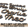 Personalised 4mm Thick Script Names MDF Letters Words Books Wooden Wood Weddings