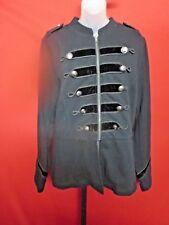 ~~TORRID Black Military Jacket Velvet Insets Logo Buttons Sz 2~~Plus Sz Coat