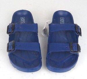 Men's Double Buckle Sandals Gray Navy Blue Black Beige Sizes 7-12 New