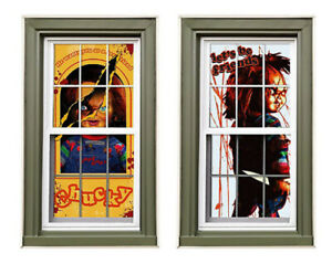 CHUCKY Child's Play Scene Setter Halloween party wall or window Silhouettes