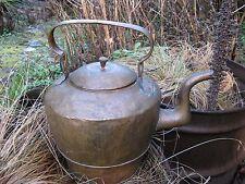 FOLK ART hand made ANTIQUE copper kettle AAFA 1900 large primitive country decor