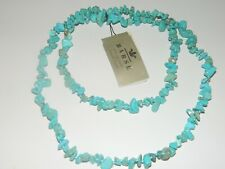 BARSE GENUINE STONE NECKLACE TURQUOISE MAGNASITE CHIP,  NWT $48
