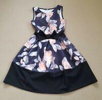 Boohoo Nights Women's Sleeveless Round Neck Fit Flare Skater Dress Size 8