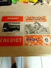 amac from benedict d1 potato harvester & potato cleaner two sale brochures