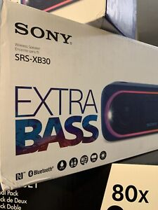 SONY Wireless Portable Speaker SRS-XB30 Blue Waterproof Bluetooth