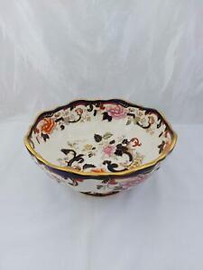 Masons Mandalay Blue 10 inch Footed Fruit Bowl Vintage ironstone porcelain