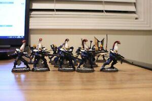 Warhammer 40K Eldar Dire Avengers and Guardians (5X Avengers, 10X Guardians)