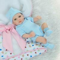 "10"" Full Body Soft Silicone Vinyl Reborn Baby Dolls Newborn Toddler Mini Boy Toy"