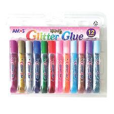 AMOS GLITTER GLUE Multi-colors 1set of 12colors Non-toxic