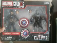Marvel legends 10 years captain america and crossbones 2 pack civil war